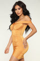 Bangkok Ruched Dress - Mustard