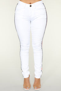 Frenchie Skinny Jeans - White