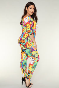 Familiar Faces Jumpsuit - Multi