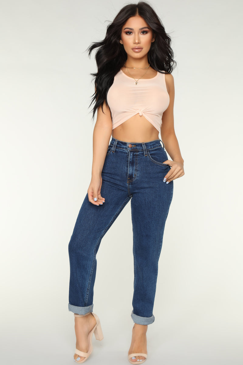 Out Like A Light Mesh Top - Peach