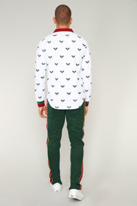 Taylor Long Sleeve Polo - White