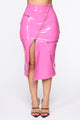 Secret Keeper Midi Skirt - Pink