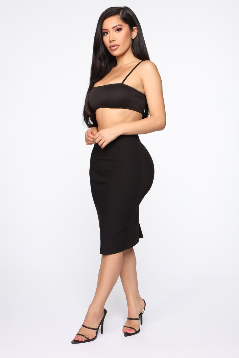 Worker Bee Midi Skirt - Black
