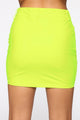 Lily Latex Mini Skirt - Neon Yellow