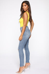 Not Ya Babe Bodysuit - Yellow