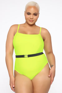 In The Maldives Swimsuit - Neon Yellow