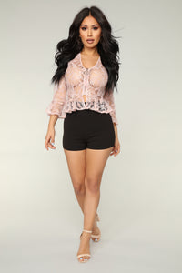 Lace And Love Jacket - Mauve