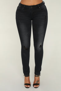 Making Demands Distressed Jeans - Black