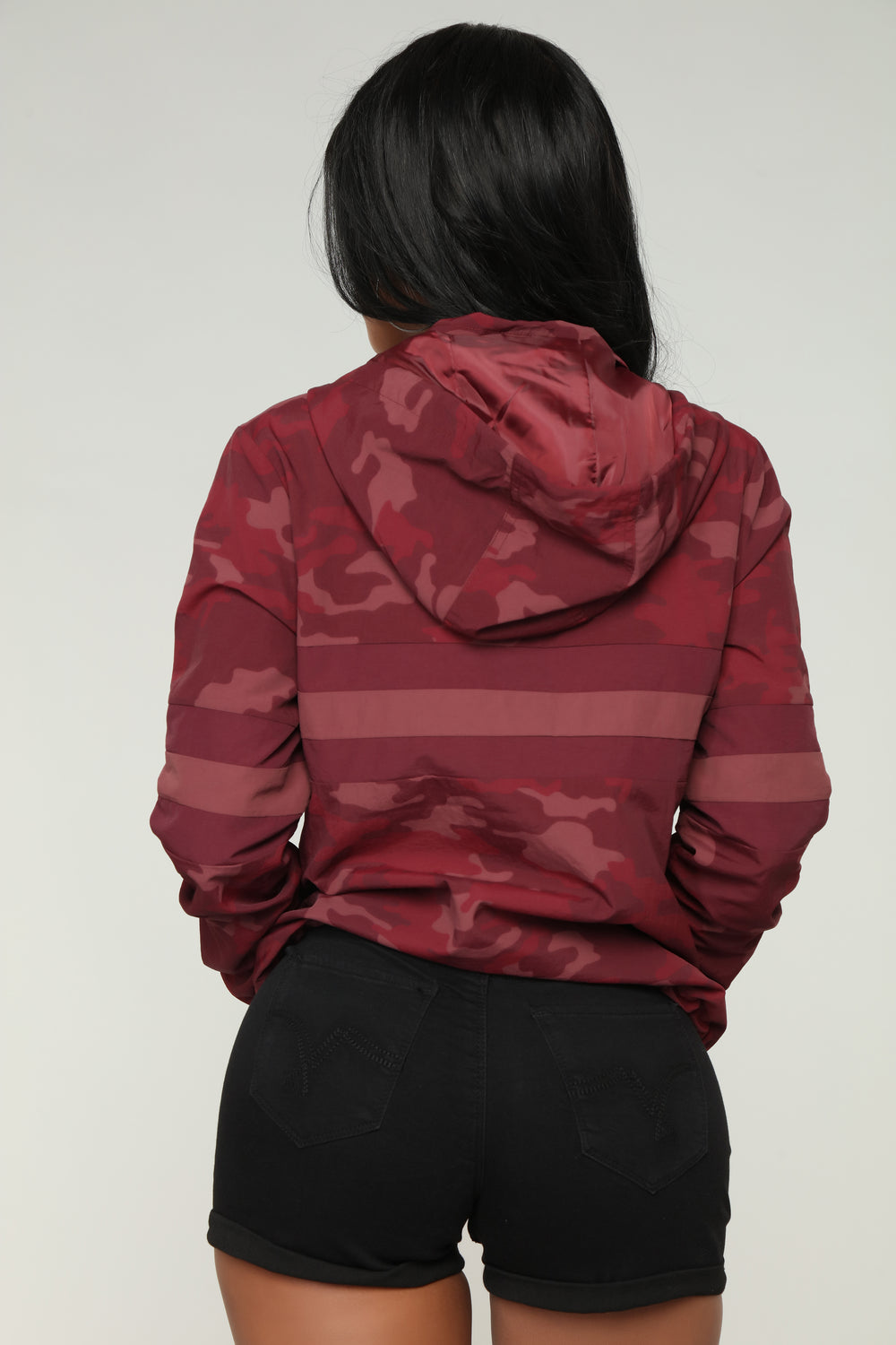 Hiding From You Jacket - Burgundy/camo