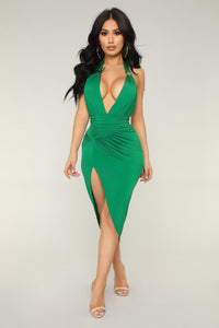 Big Ego Midi Dress - Green