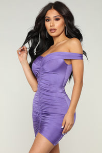 Bangkok Ruched Dress - Violet