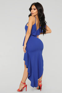 Raenessa High Low Dress - Royal