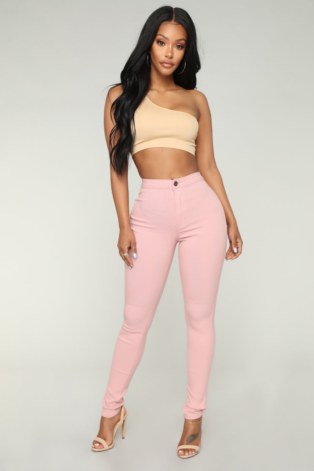 Sunshine High Rise Skinny Jeans - Rose