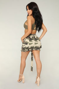 Survivor Camo Skirt - Light Olive