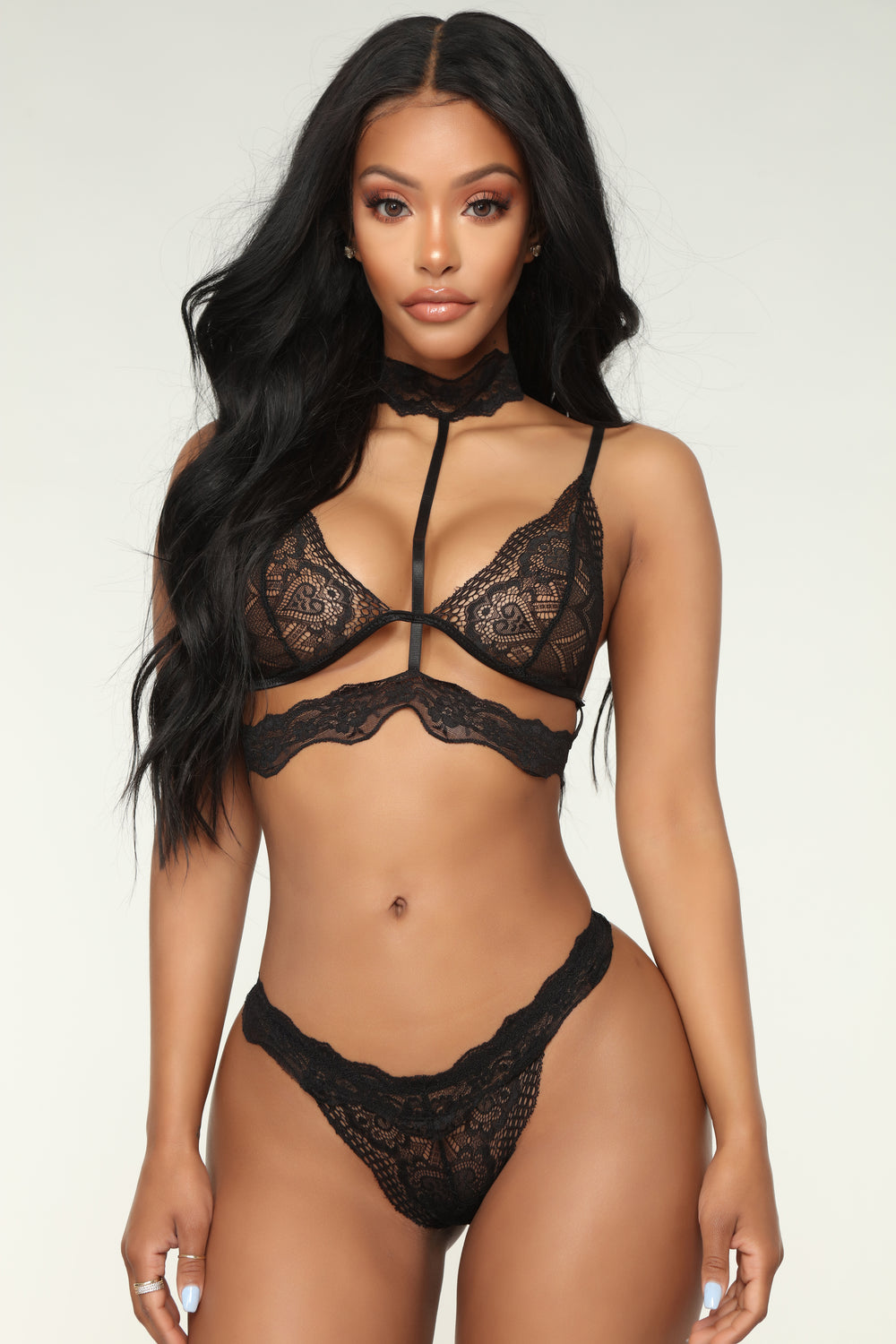 Luscious Lover 2 Piece Set - Black