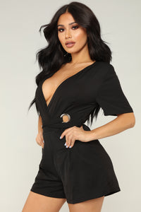 Foil The Plan Romper - Black Angle 4