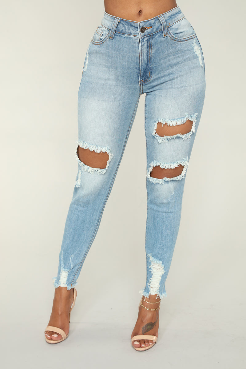 Colombian Nights Ankle Jeans - Light Blue Wash