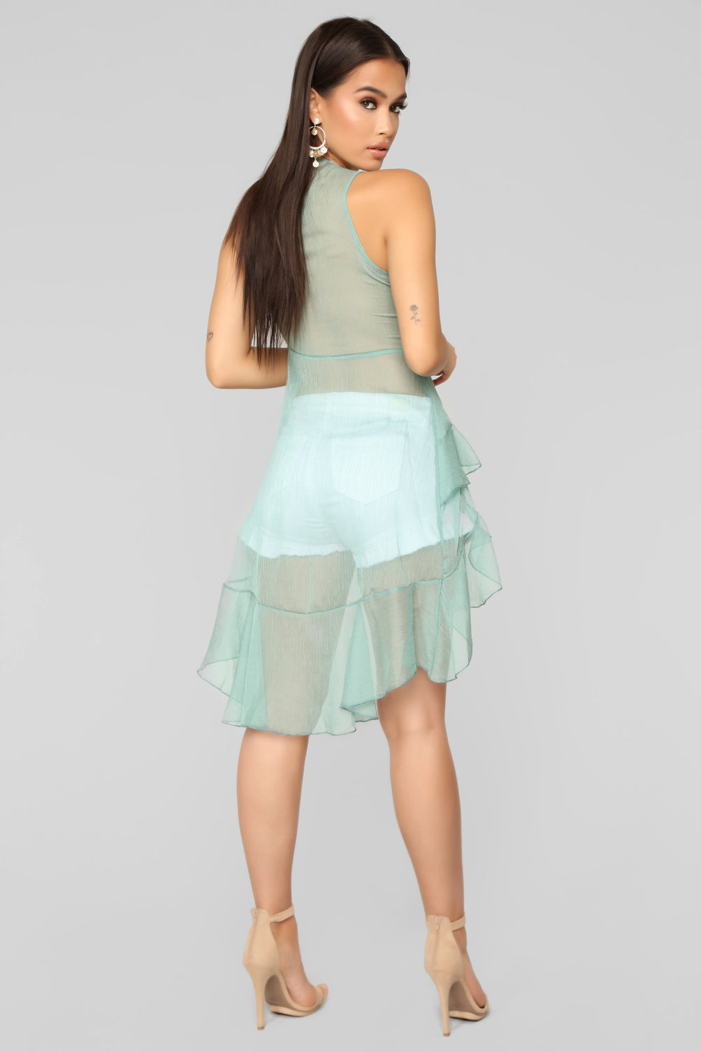 Harpers Song Ruffle Top - Sage