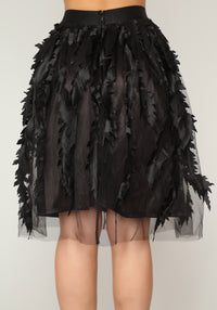 Lost In The Leaves Skirt - Black