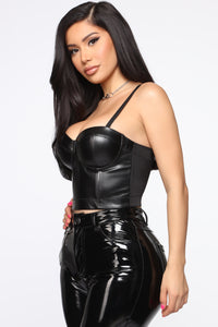 Say You'll Be Mine Corset - Black
