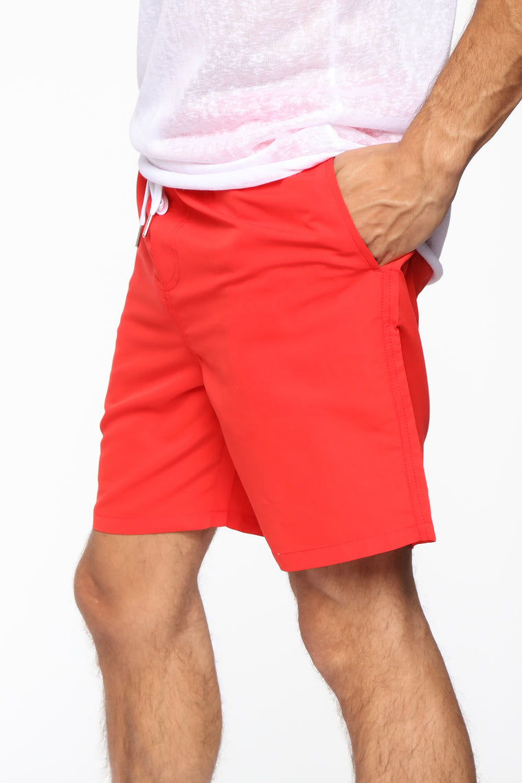 Grab And Go Boardshorts - Red