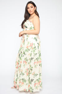 Walking With You Tube Maxi Dress - Ivory/Combo Angle 7
