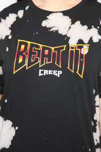No Creeps Graphic Top - Black/combo Angle 2