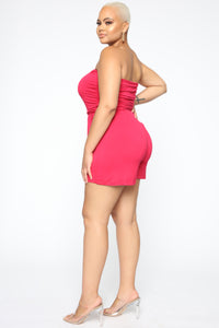 Glenda Romper - Red