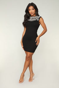 Charmine Pearl Dress - Black