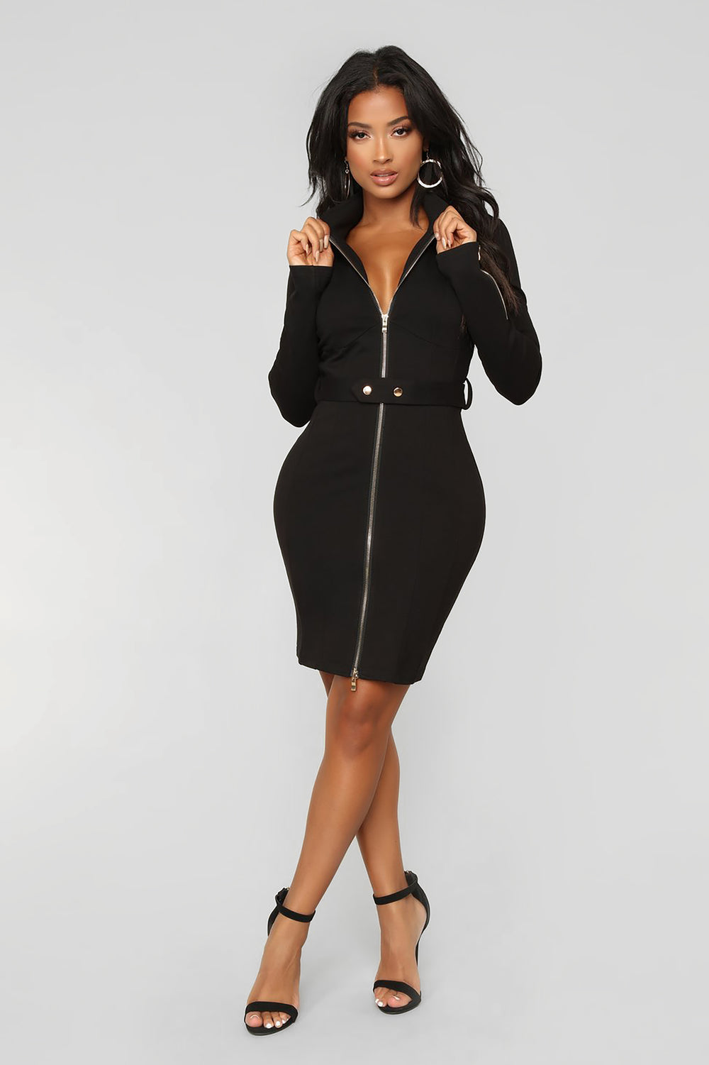Uptown To Downtown Ponte Dress - Black