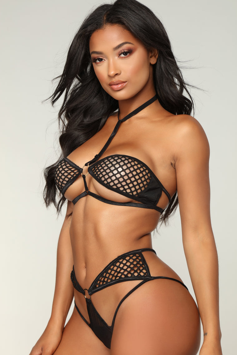 Feeling Naughty 2 Piece Set - Black