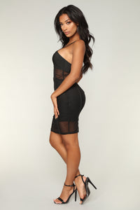 Amor Siempre Mini Dress - Black