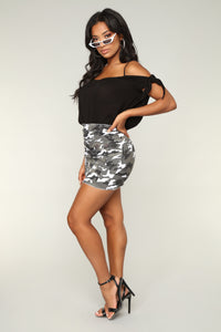 Cadet In Charge Skirt - Grey