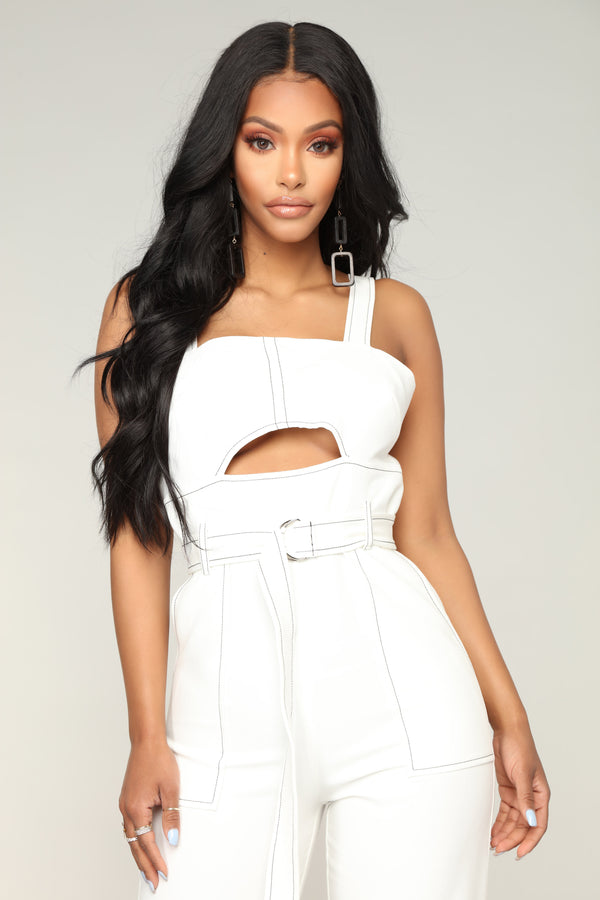 bc3b96b7db25 After The Breakup Jumpsuit - White