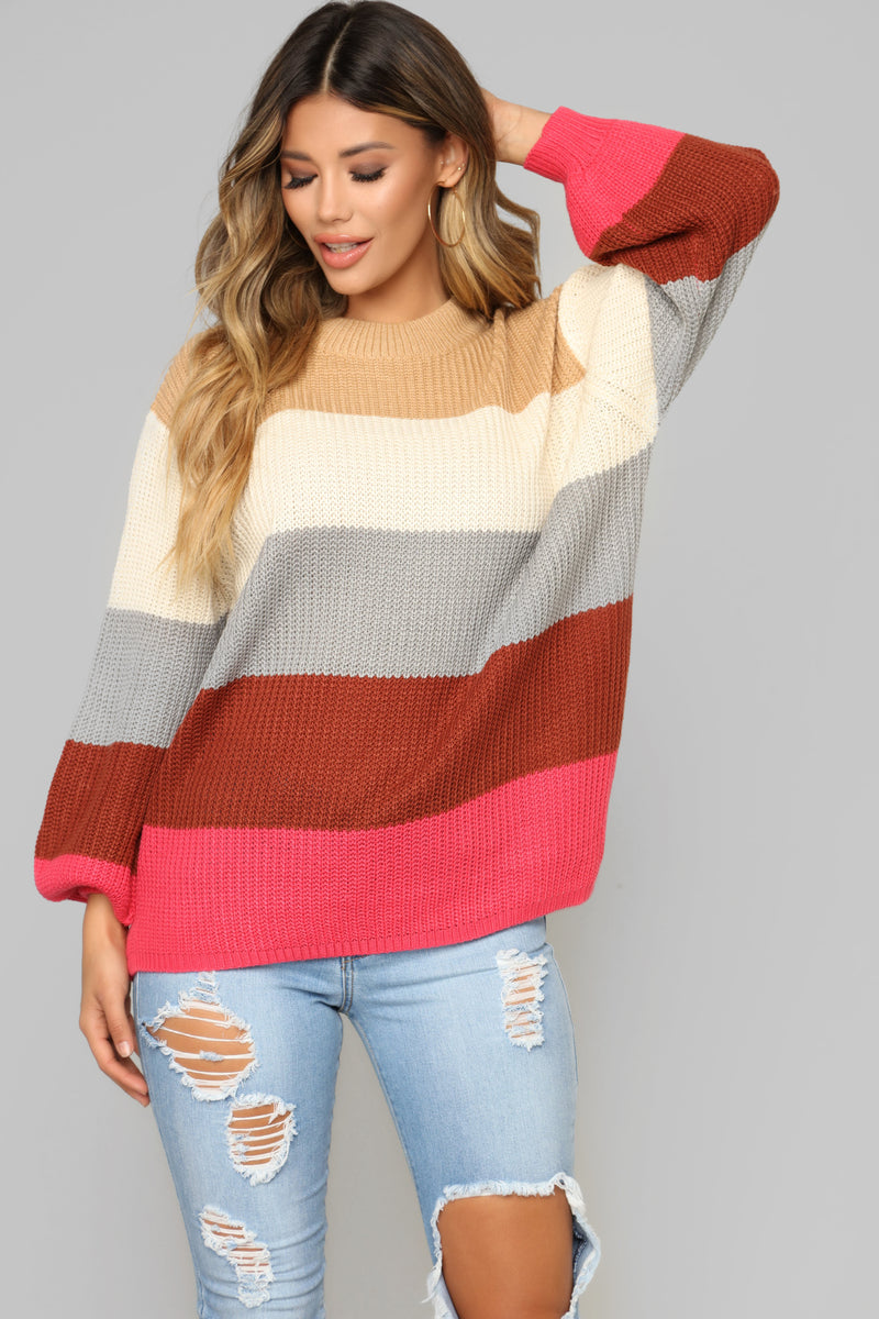 90's Lover Stripe Sweater - Multi