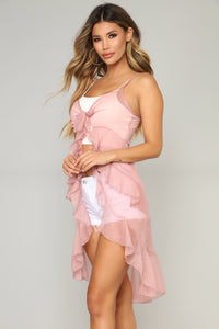 Lovely Fantasy Ruffle Top - Rose