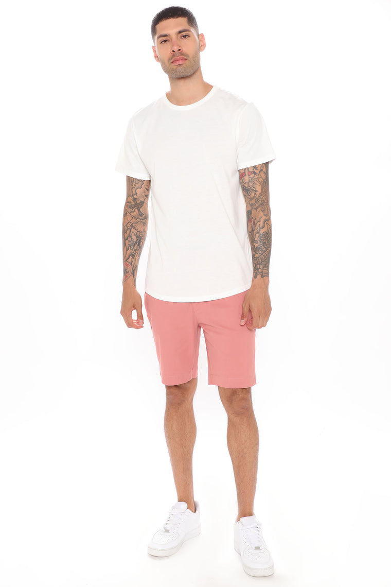 Work From Home Twill Shorts - Mauve