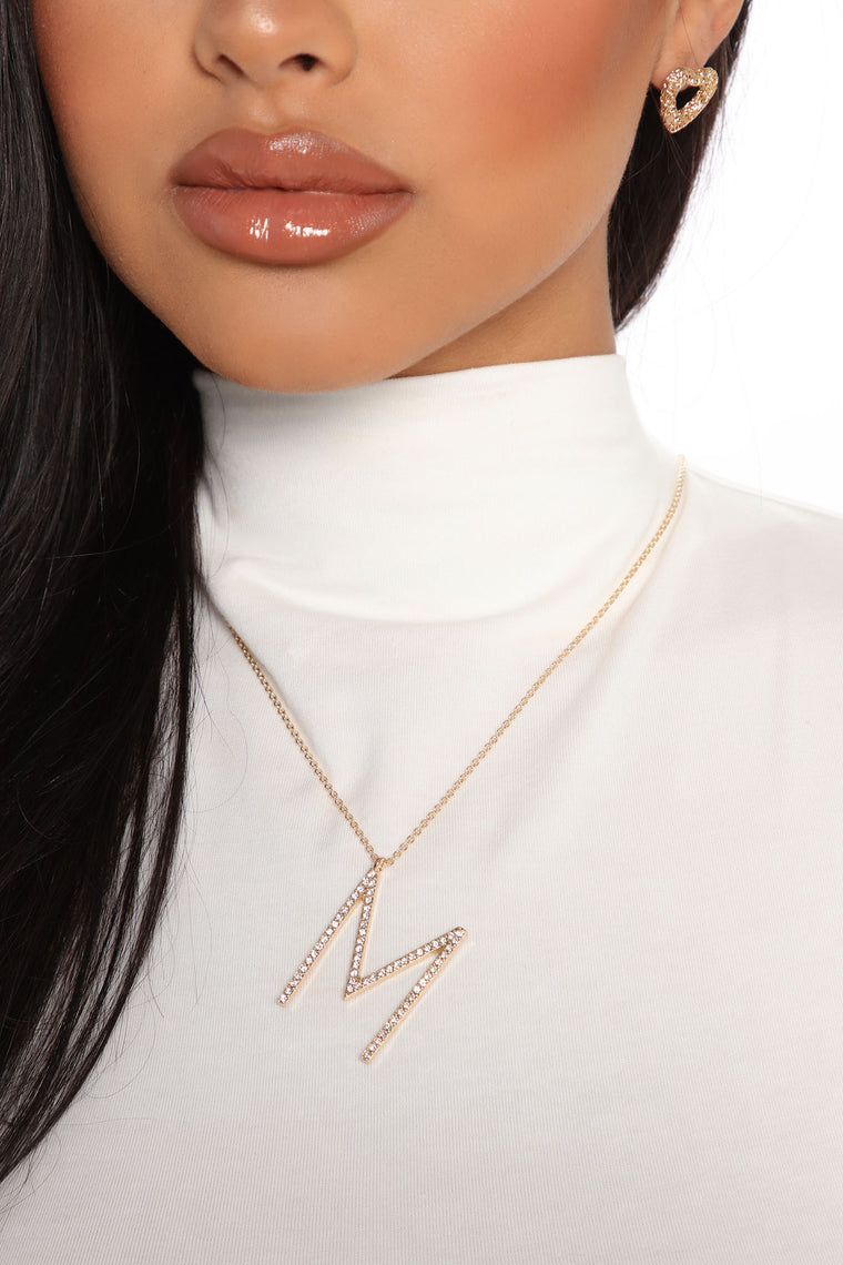That's My Name 'M' Necklace - Gold