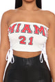 Miami Lace Up Tube Top - White