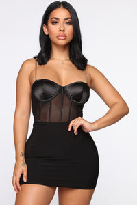 Chain To You Bodysuit - Black
