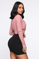 It's My Business Long Sleeve Top - Mauve