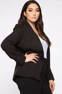 Ready For It All Blazer - Black Angle 4