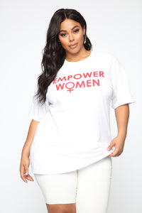 Empower Women Top - White Angle 1