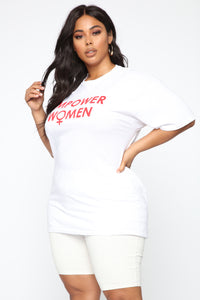 Empower Women Top - White Angle 3