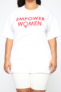 Empower Women Top - White Angle 6