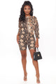 Play In Comfort Snakeskin Short Set - Taupe/combo