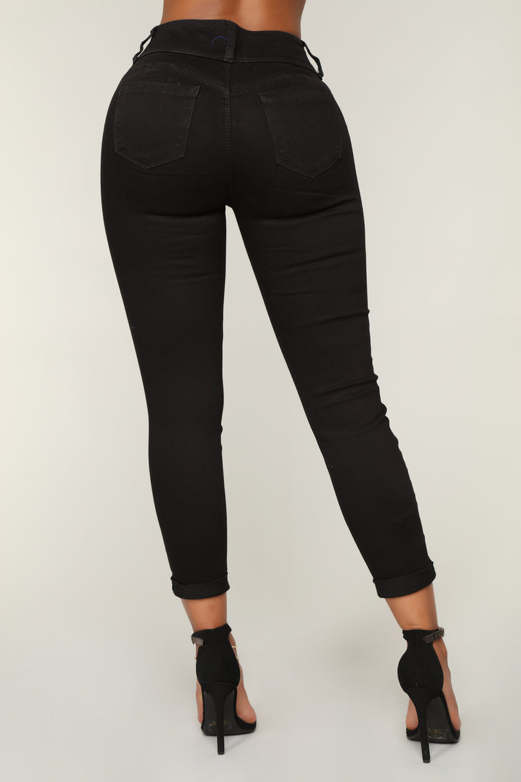 Forever Mine Booty Lifting Jeans - Black