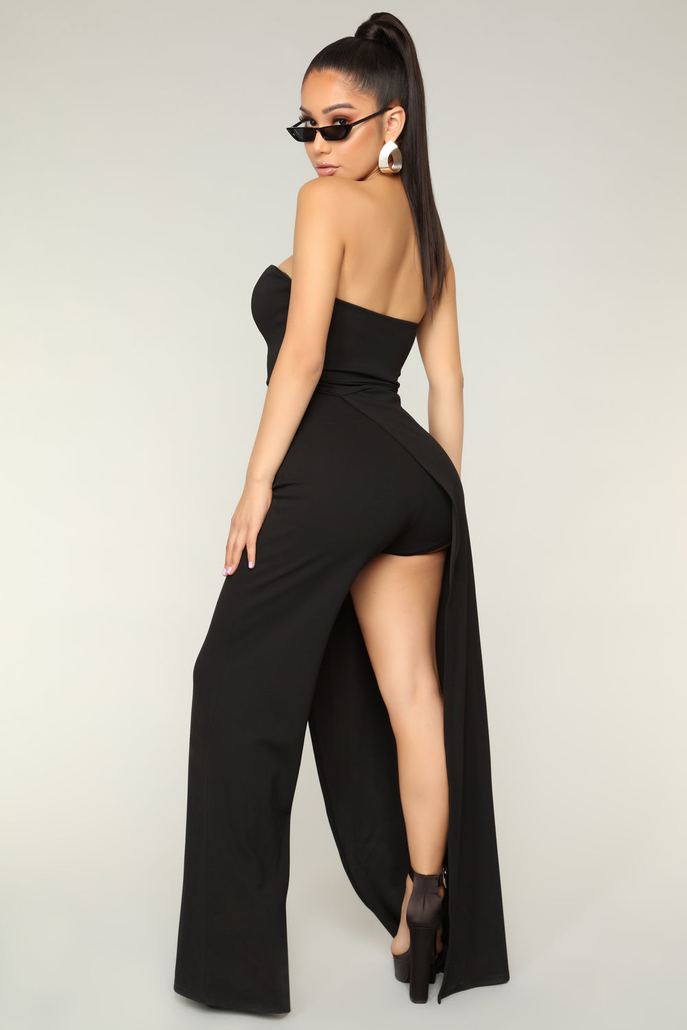 Miss Attitude Jumpsuit - Black