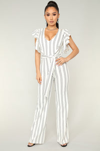 Every Song's About You Jumpsuit - White/Black