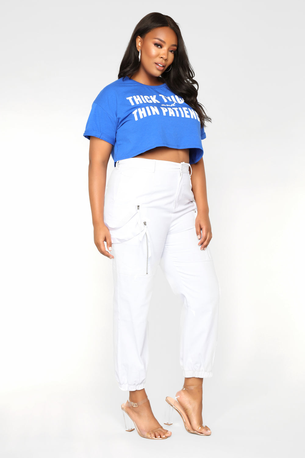 Slim Thick Crop Top - Royal